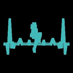 Batimento cardíaco com dançarina de freestyle