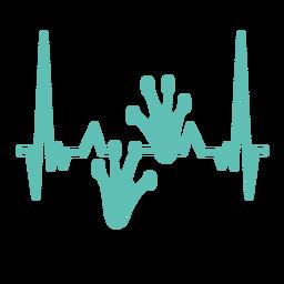 Batimentos cardíacos com sapos emborrachados