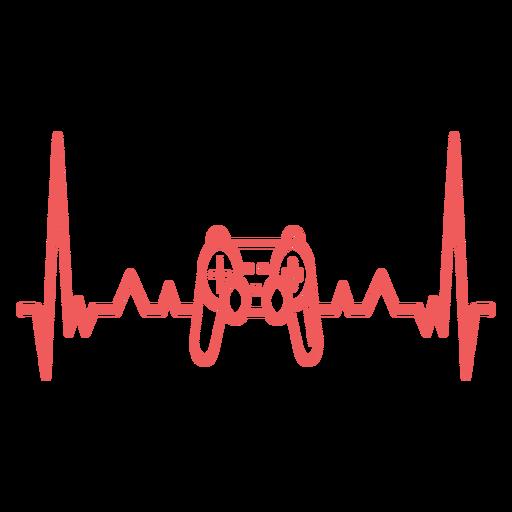 Batimento cardíaco com gamepad Transparent PNG