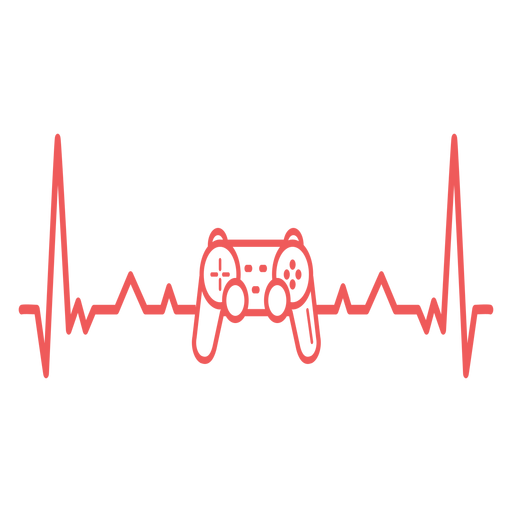 Heartbeat with gamepad Transparent PNG