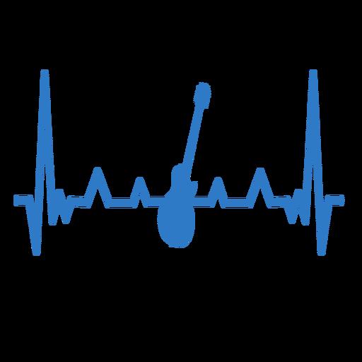 Heartbeat con guitarra Transparent PNG