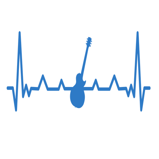 Heartbeat with guitar Transparent PNG