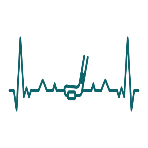 Heartbeat with hockey stick Transparent PNG