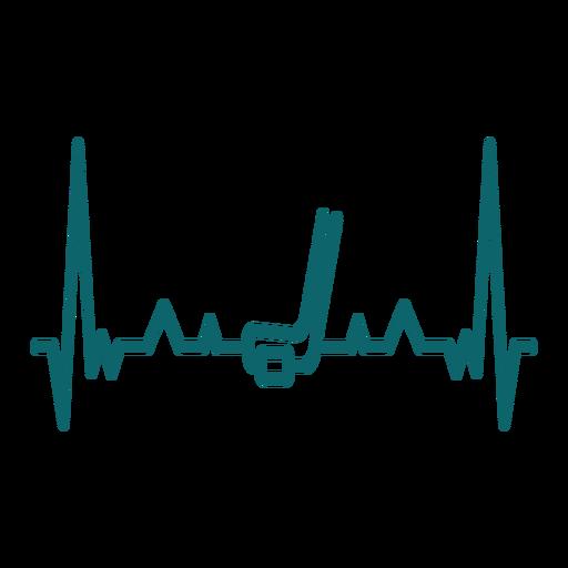 Latido del corazón con palo de hockey Transparent PNG