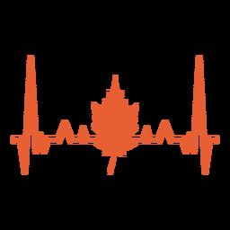 Batimento cardíaco com folha de plátano