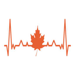 Heartbeat with maple leaf