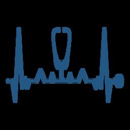 Latido del corazón con un estetoscopio medico