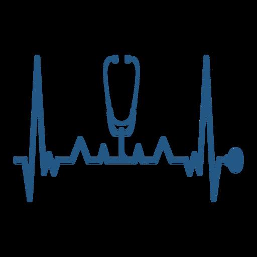 Batimento cardíaco com estetoscópio médico Transparent PNG