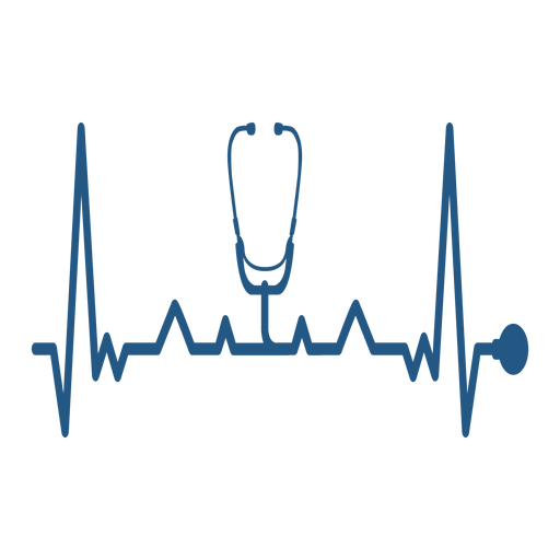 Heartbeat with medical stethoscope Transparent PNG