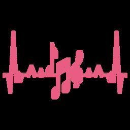 Herzschlag mit Musiknoten