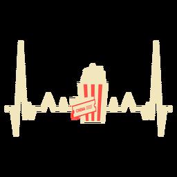 Latido del corazón con palomitas de maíz