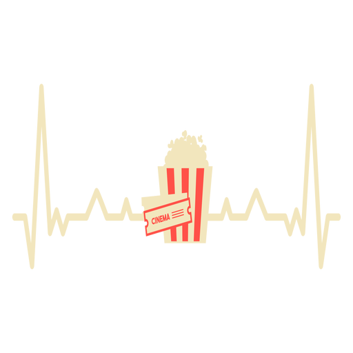 Heartbeat with popcorn Transparent PNG
