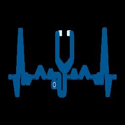 Herzschlag mit Stethoskop