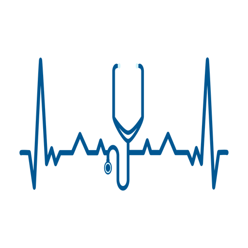 Heartbeat with stethoscope Transparent PNG