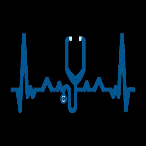 Herzschlag mit Stethoskop Transparent PNG