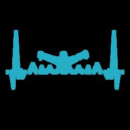 Batimento cardíaco com nadador