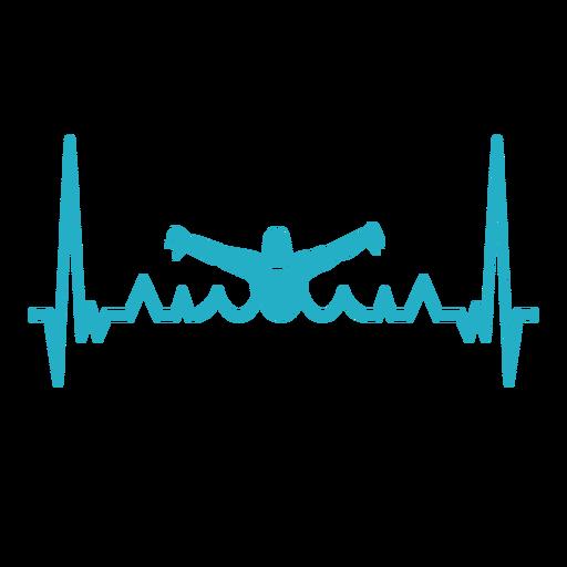 Latido del corazón con nadador