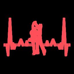 Batimentos cardíacos com dançarinos de swing