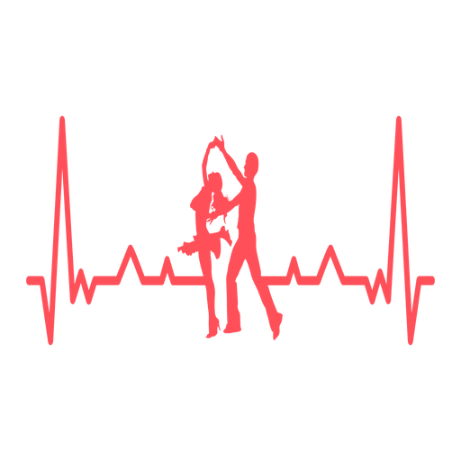 Heartbeat with swing dancers Transparent PNG