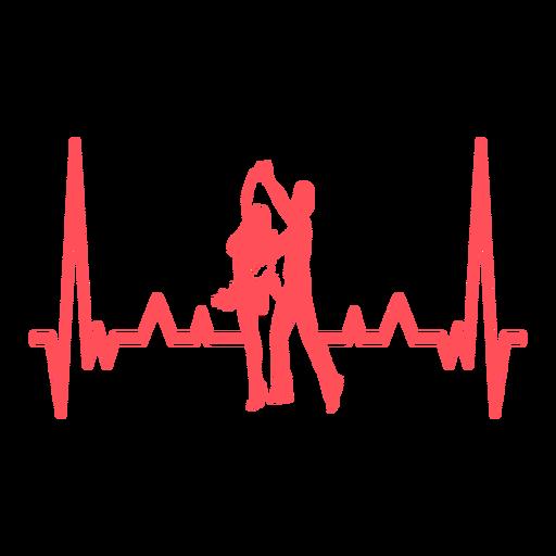 Latidos del corazón con bailarines de swing. Transparent PNG