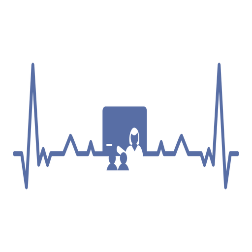 Heartbeat with teacher Transparent PNG
