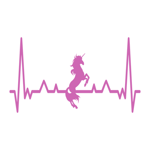 Heartbeat with unicorn Transparent PNG