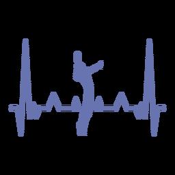 Batimento cardíaco com jogador de vôlei