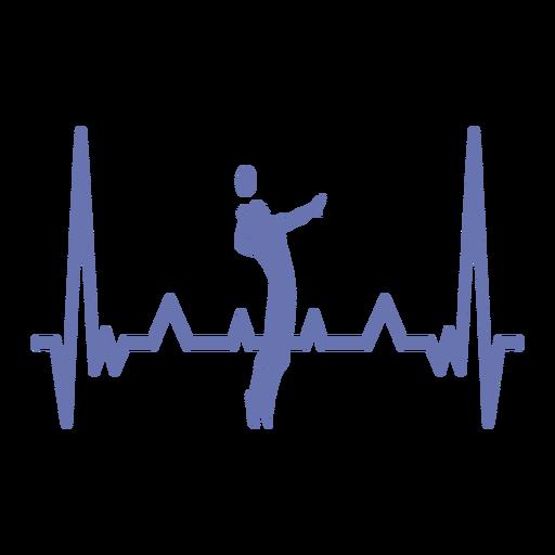 Batimento cardíaco com jogador de vôlei Transparent PNG