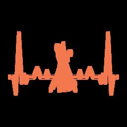 Batimento cardíaco com dançarinos de valsa
