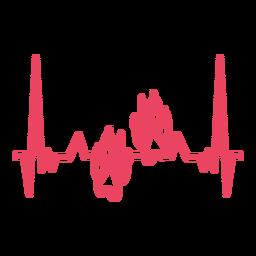 Batimentos cardíacos com impressões de pata de lobo