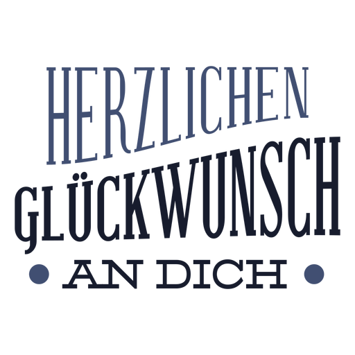 Herzlichen Gluckwunsch-Schriftzug Transparent PNG
