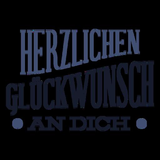 Letras de gluckwunsch de Herzlichen Transparent PNG