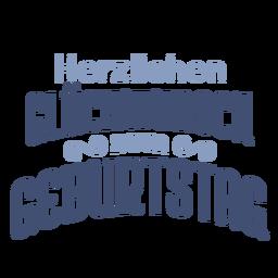 Heráldica, gluckwunsch, zum, geburtstag, lettering