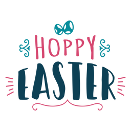 Hoppy easter lettering