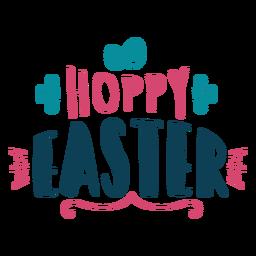 Hoppy easter lettering