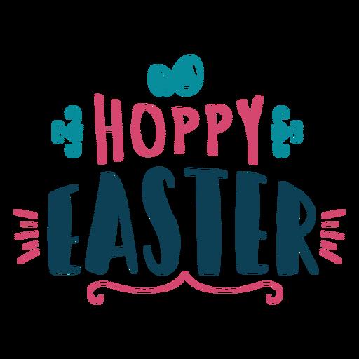 Hoppy easter lettering Transparent PNG