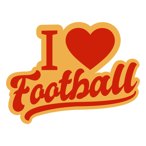 I love football badge Transparent PNG
