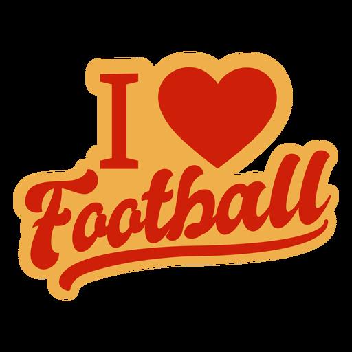 Me encanta la insignia de futbol Transparent PNG