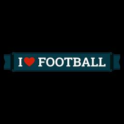 I love football lettering