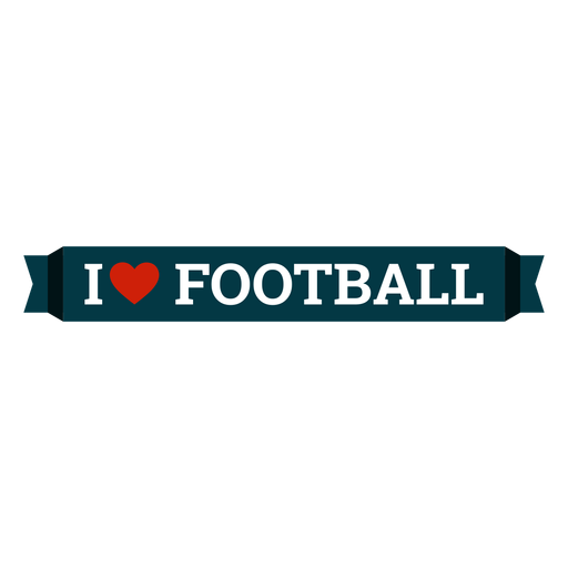 I love football lettering Transparent PNG
