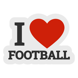 I love football sticker