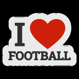 Ich liebe Fußballaufkleber