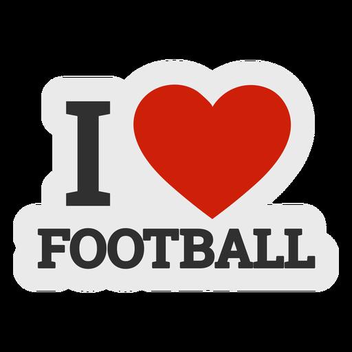 Eu amo o autocolante de futebol Transparent PNG