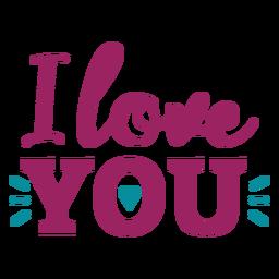 Ich liebe dich Schriftzug