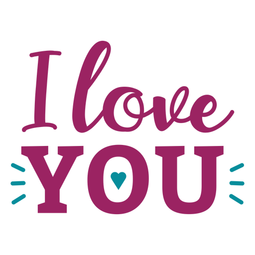 Download I love you lettering - Transparent PNG & SVG vector file