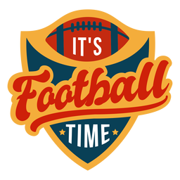 Its football time lettering
