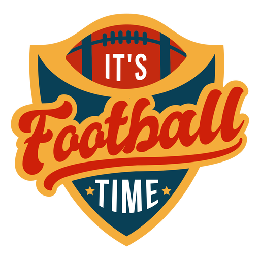 Its football time lettering Transparent PNG