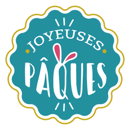 Joyeuses paques bunny ears lettering