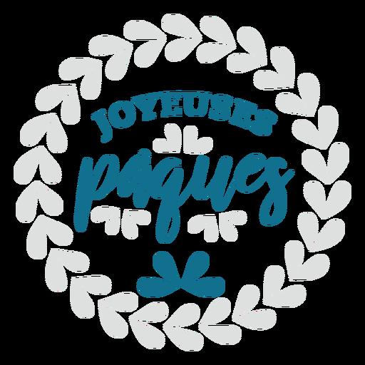Joyeuses paques lettering Transparent PNG