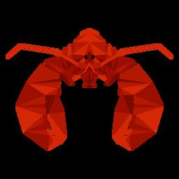 Vista frontal da lagosta lowpoly